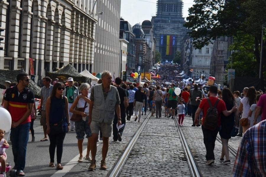 Fête nationale rue de la Régence