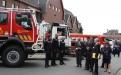 Passage en revue des troupes - Service d'incendie de Brecht (Photo : Dirk Jansse